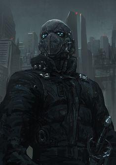 Cyberpunk Atmosphere, Cyborg, Future City, Dystopia, Futuristic, 210111 by ~torei on deviantART