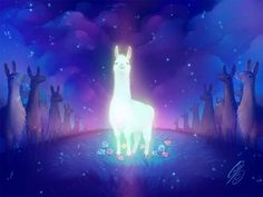 Mystical Llama by SaiyaGina Lonely Planet, Animation, Buddhism, Beautiful Creatures, Mystic, Cute Animals, Wallpaper, Gallery, Drawings