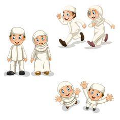 Muslim children playing