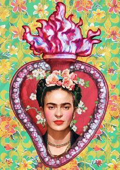 Frida Y Diego Rivera, Fridah Kahlo, Kahlo Paintings, Cute Christmas Wallpaper, Frida Art, Deco Boheme, Chicano Art, Mexican Art, Heart Art