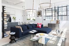 An Industrial Space Converted Into A Loft By Cloud Design Studios.March 13, 2015 UK based interior design firm Cloud, have converted an industrial space into a light and airy apartment.