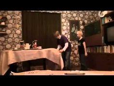 Sven and Michel Epic Tablecloth Magic Trick Fail!