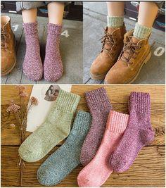 1c807319a16 5 Pcs Autumn Winter Warm Women Socks EU Size for sale online