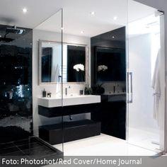 anthrazit bad mit mosaik interior design 2015 badezimmer fliesen, Wohnideen design