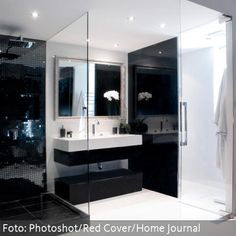 anthrazit bad mit mosaik interior design 2015 badezimmer fliesen ... - Bad Design 2015