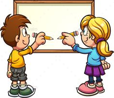 Buy Writing Kids by memoangeles on GraphicRiver. Cartoon kids writing on a blank board. Some elements on separate layers. Cartoon Boy, Cartoon People, Best Cartoon Characters, Easter Eggs Kids, Kids Cuts, Kids Writing, Global Art, Cool Cartoons, Designs To Draw