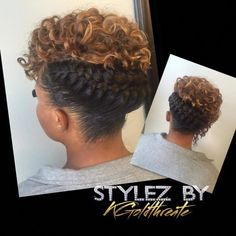 Holidays hair style #flatironsshortgirlhairstyles