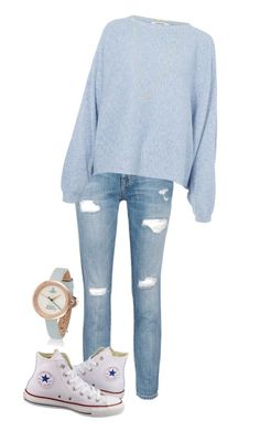 """My mom make this style"" by andrea-chaleen on Polyvore featuring Current/Elliott, Rodebjer, Converse and Wanderlust + Co"