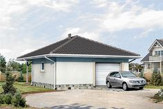 Projekt G2-4.12a Bungalow House Plans, Bungalow House Design, Country Modern Home, Facade House, Home Design Plans, Wood Construction, Planer, Sweet Home, Cabin