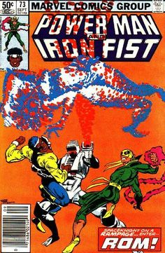 Power Man and Iron Fist 73 is written by Jo Duffy, with Frank Miller cover art, and George LaRocque interior art. Comic Book Characters, Comic Books Art, Comic Art, Marvel Characters, Frank Miller, Luke Cage Iron Fist, Superman, Heroes For Hire, Comics For Sale