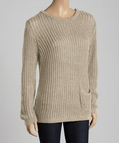 Another great find on #zulily! Off-White Single Pocket Sweater by Sacred Threads Boutique #zulilyfinds