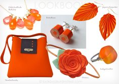 Lookbook Unlimited: Orange Accessories From Etsy
