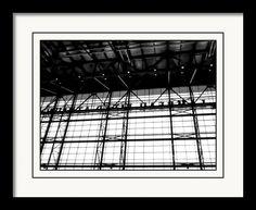 Lambeau Field Atrium Architecture Black And White Framed Print By Stephanie Forrer-Harbridge