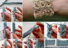 Crochet bracelet thumb