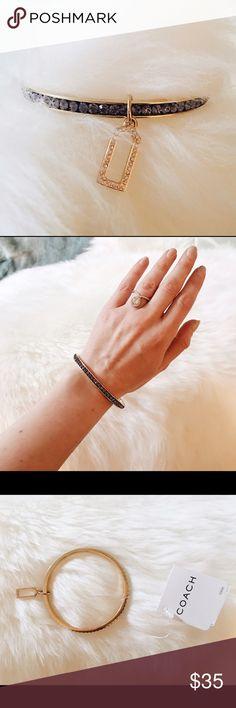 Coach Bangle Pave Coach bracelet. Brand new with tags, never worn. Beautiful bangle. Coach Jewelry Bracelets