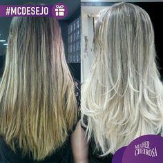 """@mulher_cheirosa's photo: """"Bom dia! Que tal um cabelo loiro e lindo pra começar o dia? Obra de arte feita por @kazuonoto! #mulhercheirosa #MCdesejo #blond #japadasloiras"""""""