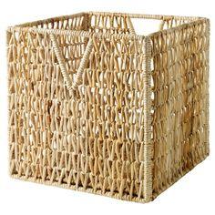 PJÄS - #cesta de fibras naturales. Plegable, para ahorrar espacio cuando no se usa. #cesta #natural