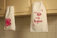 Tutorial: Paño de cocina estampado - stencil personalizado