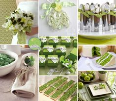 St. Patrick's Day Inspired Green Wedding Inspiration Board with Shamrocks — as seen on www.brendasweddingblog.com