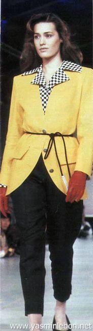 Yasmin Le Bon: Alistair Blair, spring/summer 1990'