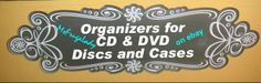 A Variety of Media [CD/DVD-Discs, Jewel Cases] Storage-Cases and Organizers [MsFrugaLady on ebay, other uses for]    http://www.ebay.com/sch/m.html?_odkw=%28%22CD%22%2C%22DVD%22%29&_sop=10&_osacat=0&_from=R40&_ssn=msfrugalady&_trksid=p2046732.m570.l1313.TR0.TRC0.X%28CD%2CDVD%29&_nkw=%28CD%2CDVD%29&_sacat=0