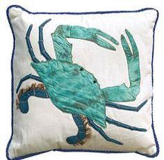 blue crab pillow