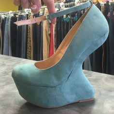 Awesome heels! Only worn once! The heels are awesome! 6 inch heel. Charlotte Russe Shoes Heels