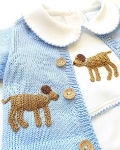 WARNING: Our Crochet Dog Playsuit & Sweater may cause other babies to be jealous... And want a puppy.  This is perfect for your beautiful baby boy!