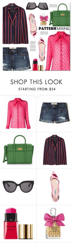 """""""Stay Bold: Pattern Mixing"""" by monica-dick ❤ liked on Polyvore featuring Yves Saint Laurent, Hollister Co., Mulberry, Christian Dior, Prada, Juicy Couture, polyvoreeditorial and patternmixing"""