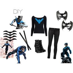 21 best nightwing merchandise images on pinterest casual cosplay diy nightwing costume fashion look from october 2012 featuring michael kors sweaters rag solutioingenieria Images