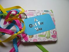 Aqua and Green Giftcard Holder, giftcard holder, mini giftcard holder, a gift for you, card holder, holder, pink and aqua, giftcard book by HampshireRose on Etsy