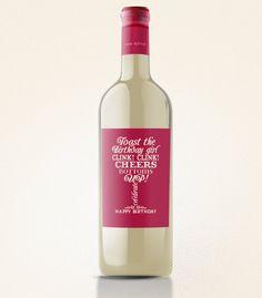Birthday Wine Lable - Instant Download Printable File (merlot cadet for Francks bday)
