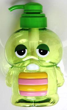 """gachapin"" shampoo bottle"