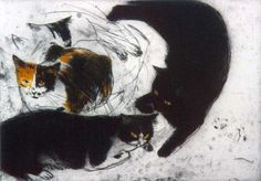 Studies of Fred    etching   Elizabeth Blackadder