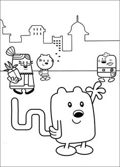 Wow Wubbzy Coloring Pages 21 For Kids Books Online