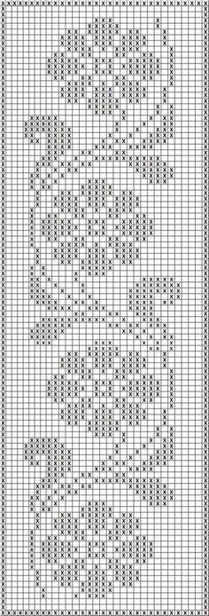 Filet Crochet Charts, Crochet Borders, Crochet Cross, Knitting Charts, Crochet Stitches, Knitting Patterns, Filet Pattern Crochet, Crochet Tablecloth Pattern, Tapestry Crochet Patterns