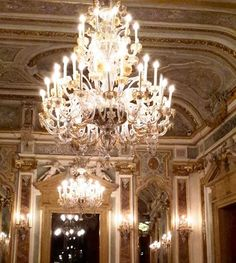 The gilded gorgeousness that is the Ballroom at Aman Venice - La Serenissima was looking truly serene last night! Instagram Widget, Serenity, Venice, Ceiling Lights, Display, Night, Floor Space, Billboard, Ceiling Lamps