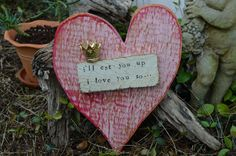 "i""ll eat you up i love you so, painted and distressed pink wood heart, gold crown, recycled wood sign, bond love sign by BondLove on Etsy https://www.etsy.com/listing/227817070/ill-eat-you-up-i-love-you-so-painted-and"