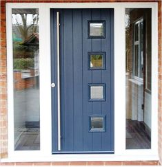 Front Door In Chartwell Green With White Upvc Side Panels Fitted In Derbyshire Https