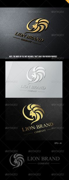 Lion Brand Logo 1 #GraphicRiver This logo design for all creative business. Consulting, Excellent logo,simple and unique concept. Logo Template Features AI and EPS (Illustrator 10 EPS) 300PPI CMYK 100% Scalable Vector Files Easy to edit color / text Ready to print Font information at the help file If you buy and like this logo, please remember to rate it. Thanks! Created: 18June13 GraphicsFilesIncluded: VectorEPS #QuarkQXP Layered: No MinimumAdobeCSVersion: CS Resolution: Resizable Tags…