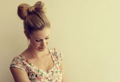 easy bow bun