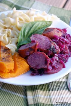 Sausage and red cabbage sauerkraut | #BabyCenterBlog