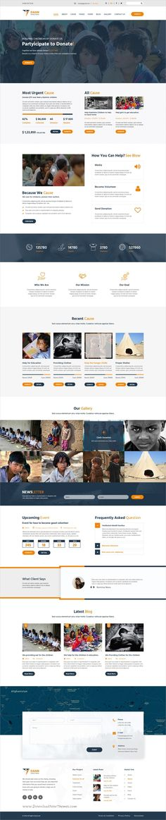 Daan is a wonderful #Photoshop template for #charity and non-profit #organizations websites with 3 homepage layouts and 14 layered PSD files download now➩ https://themeforest.net/item/daan-multipurpose-nonprofit-psd-template/19324037?ref=Datasata