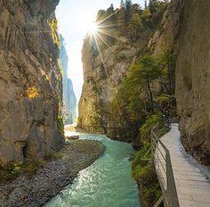 The Aare Gorge, Switzerland