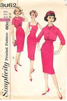 Vintage Late1950s Sleeveless Sheath or Wiggle by daisyepochvintage, $12.00