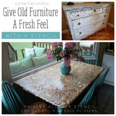 Give Old Furniture A Fresh Feel With A Stencil
