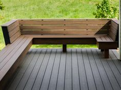 DIY Network: Check out the built-in seating on the DIY Network Blog Cabin 2012 deck.