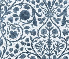Provence Toile in Blue and White fabric by sparrowsong on Spoonflower - custom fabric