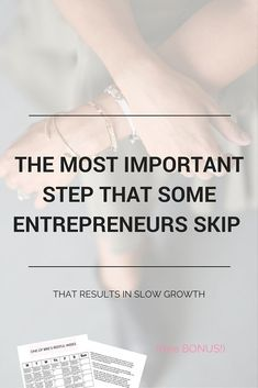 The most important step that some entrepreneurs and online business owners skip!