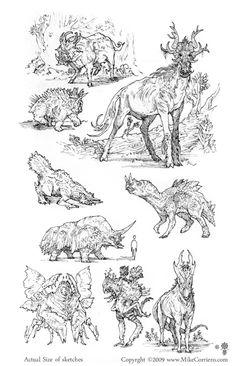 Doodles 003 by artist Mike Corriero www.MikeCorriero.com - https://www.facebook.com/Creature.Artist